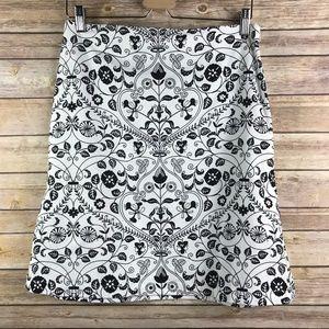 Ann Taylor Floral A-line Skirt (Bin: SK145)
